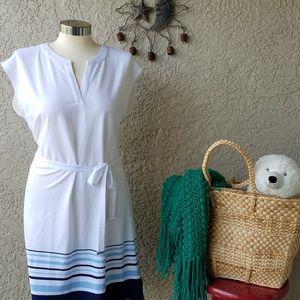 NEW Tommy Hilfiger White/blue striped Dress sizeM